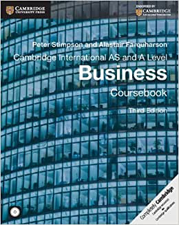 Download ebook Cambridge International AS and A Level Business Coursebook with CD-ROM (Cambridge International Examinations)