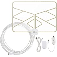 1byone 50 Mile Range Super Thin HDTV Antenna with 20ft Coaxial Cable