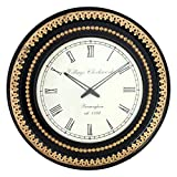 "Datar Interirors Wood Brass Wall Clock (18"" X 18"" ,Multicolor)"