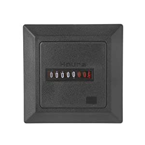 FLYCHENGi HM-1 Timer Square Counter Tracker Accumulated Hour Meter Tracking Counter Hourmeter Gauge Digital 0-99999.9 High-Precision Counting Tool (Color: Black)