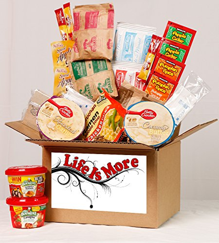 Student Care Package / Food Basket - Cold Winters Night / Day - College / Military Care Package -- Birthday Food Gift