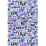 Racoon Blue Love Poster Laminated Glossy Finish, Small (18 X 12 In)