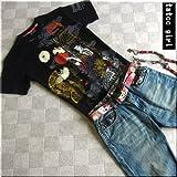 mts150 和柄 Tシャツ TATOOガール タトゥーガール TATOO ガール 菊 扇子 着物【3色】メンズ 半袖 Tシャツ 半袖Tシャツ