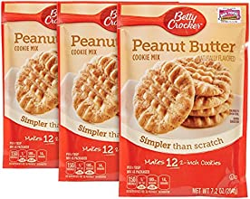 Betty Crocker Snack Size Cookie Mix-Peanut Butter-72 Oz-3 Pack