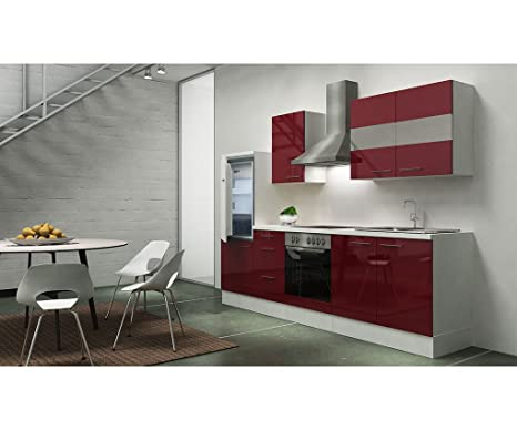 Respekta Kitchen Unit Empty 270 cm White Front High Gloss Finish