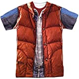 Back To The Future Marty McFly Vest Costume Adult Movie T-Shirt Tee Select Shirt Size: Small