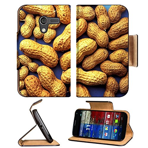 Whole Peanut With Shells Scattered Motorola Moto X Flip Case Stand Magnetic Cover Open Ports Customized Made To Order Support Ready Premium Deluxe Pu Leather 5 7/16 Inch (138Mm) X 3 1/16 Inch (78Mm) X 9/16 Inch (14Mm) Luxlady Mobility Cover Professional M front-473350