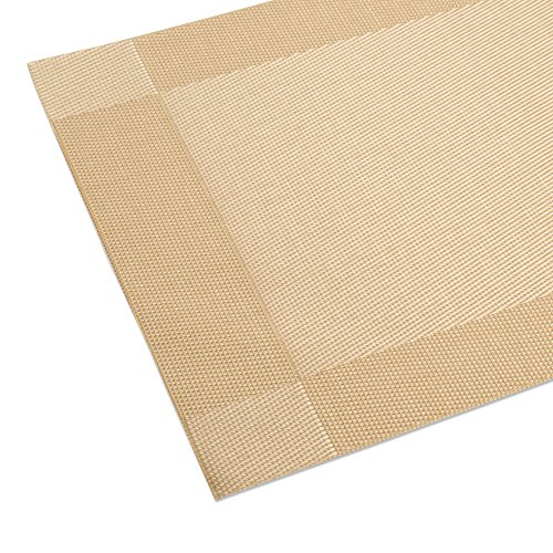 Dinachef place mats for dining table or kitchen quality thermal bonded edges reversible - Dining room table mats ...