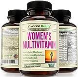 Vimerson Health Women's Multivitamins, All Natural, Non-Gmo, Gluten Free, Dairy Free. With Biotin + Foliac Acid + Vitamins A B C D E + Calcium + Zinc + Lutein + Magnesium + Manganese & More