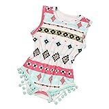 Bestpriceam Baby Clothes, Newborn Toddler Printing Bodysuit Romper Jumpsuit (6-12M, Red)