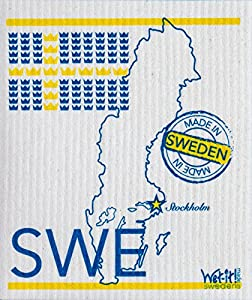 Swedish Treasures Wet-It! Cleaning Cloth, Works Great in Kitchen, Bathroom or Any Room, Reusable & Biodegradable, Sweden