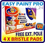 PERFECT PAINT PRO & FREE EXTENSION POLE 4 X SPONGE PADS AND PAINTING SYSTEM KIT