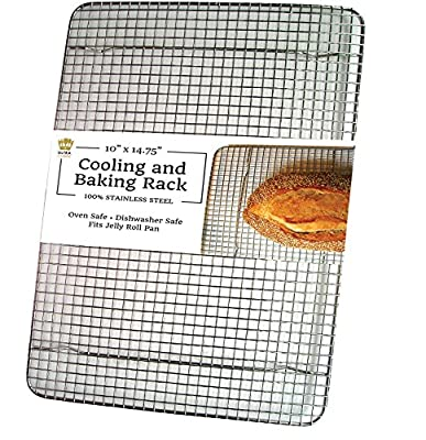 UltraCuisine 100% Stainless Steel Wire Cooling Baking Rack for Oven - Quality Heavy Duty Bakers Rack