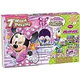 Disney Minnie Bowtique 7 Wood Puzzles in Wood Storage Box