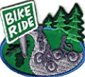 """""""BIKE RIDE"""" - BICYCLE - SPORT - EXERCISE - OUTDOORS - Iron On Embroidered Patch"""