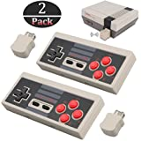 2pcs Wireless Game Controller for NES Classic Edition, NiceCo 2.4G No-wired Gamepad Joypad with Receiver for NES Classic Gaming System Console (White) (Color: White)