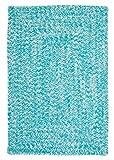 Designer Braided Rug Runner 2ft. x 6ft. Aqua Turquoise Blue Kitchen & Patio Washable Carpet