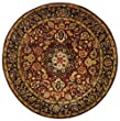 Safavieh Classic CL362A Burgundy 6' Round Handmade Wool Area Rug