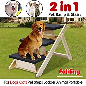 Amazon Radical Deal Wooden Pet Stairs Dog Ramp Steps