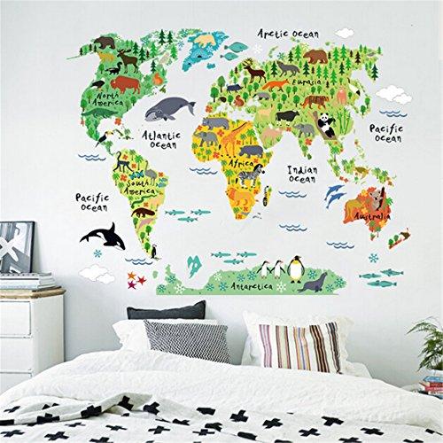 Kids Educational Animal World Map