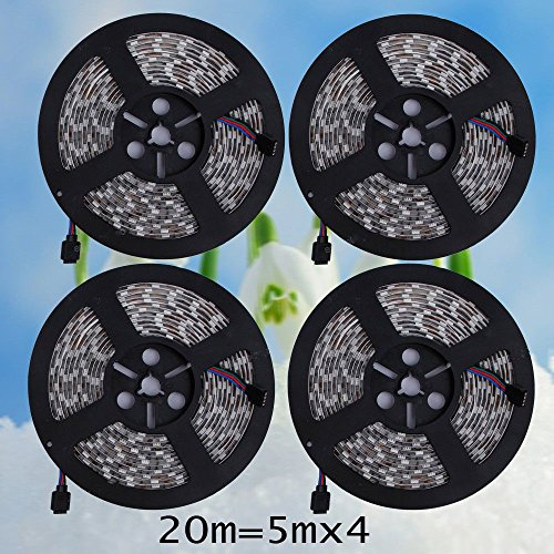 Mercurymall® 20M RGB 5050 SMD waterproof 300 LED Light Strip Flexible + IR Remote 12V power