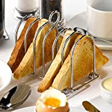 Chrome Horseshoe Toast Rack | Stainless Steel Toast Rack, Horseshoe Toast Holder