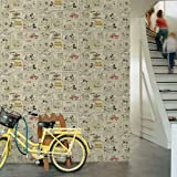 Mickey Mouse and Minnies Night Out Wallpaper 52cm x 10m from Graham Brown