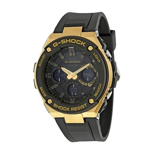 5a623db86cd2d Casio G-Shock G-STEEL Series Solar Powered World Time Analog Digital Gold  Black Resin Watch