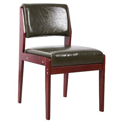 ERRU-Sillas Sillas de madera del respaldo de las sillas del sofá de la tabla de cena de madera (3Colors, 46 * 52 * los 78cm) ( Color : A )