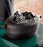 Cast Iron Dog Wood Stove Steamer, In Black