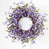 Collections Etc Spring Floral Forsythia Twig Wreath