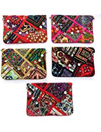 Megh Craft Women's Wholesale Lot Of Vintage Style Patch Work Cluth Purse-Multi Color -MCB54