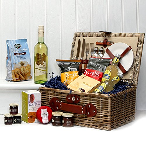 Knightsbridge Gourmet Summer Food Picnic Hamper Basket