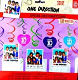 1D One Direction Swirl Decorations Value Pack 12 Pieces!