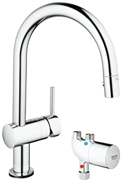 Minta Touch Single-Handle Pull-Down Kitchen Faucet with GrohTherm Micro thermostat