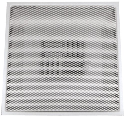 Speedi-Grille TB-PAB 06 24-Inch x 24-Inch White Drop Ceiling T-Bar Perforated Face Air Vent Register with 6-Inch Collar (TB-PAB 06)