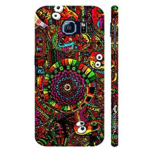 Samsung Galaxy S6 CRAZY EYES designer mobile hard shell case by Enthopia
