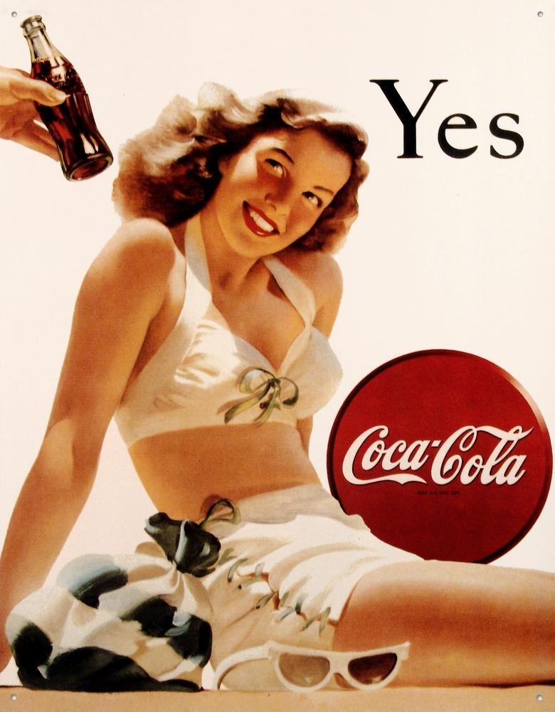 Coca-Cola Tin Sign 13 x 16in 0