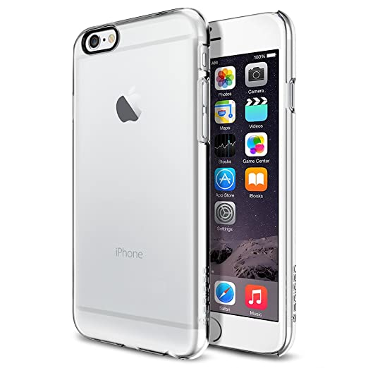 iPhone 6 ケース, Spigen® [パーフェクト-フィット] シン ・フィット The New iPhone アイフォン6 (2014) (国内正規品) (クリスタル・クリア 【SGP10939】)