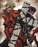 Trigun Poster Anime Vash Stampede Manga Print Nicholas D Wolfwood Wall Art 16x20 Inches