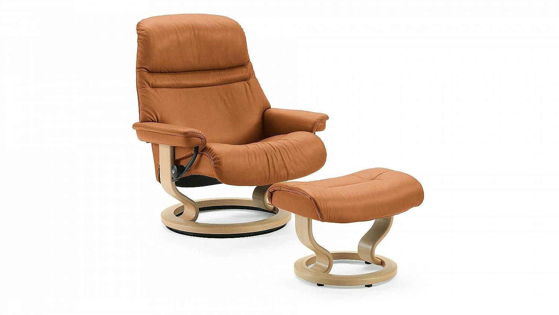 Stressless® Sunrise Sessel mit Hocker (L) Braun günstig günstig