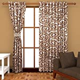 Ab home decor Polyester Door Curtains (Set of 2)- 7 Feet x 4 Feet,Multi-Color