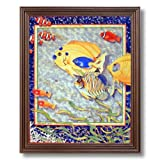 Exotic Tropical Ocean Fish # 1 Home Decor Wall Picture Cherry Framed Art Print