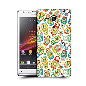 MobileGlaze Designs Totally Crazy Prints Russian Dolls Hard Back Case Cover for Sony Xperia SP
