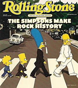 The Simpsons Rolling Stone Special Collector's Edition Beatles Abbey Road Poster Postcard