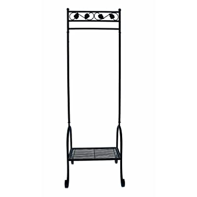 Black Metal Clothes Rail (tall and narrow)