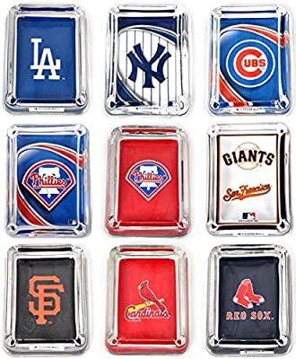 MLB Glass Ashtray