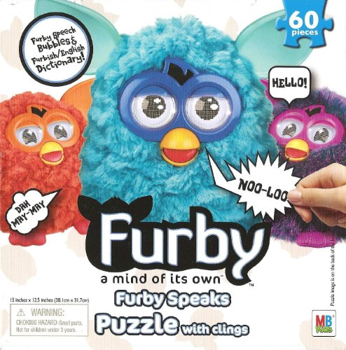 Furby Speaks 60 Piece Puzzle with Speech Bubble Clings
