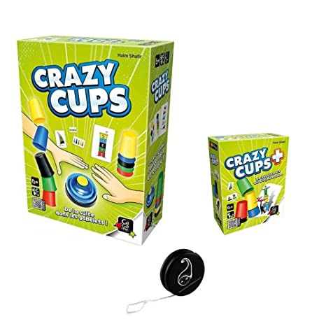Lot de 2 jeux Gigamic : Crazy Cups + Crazy Cups Plus + 1 Yoyo Blumie