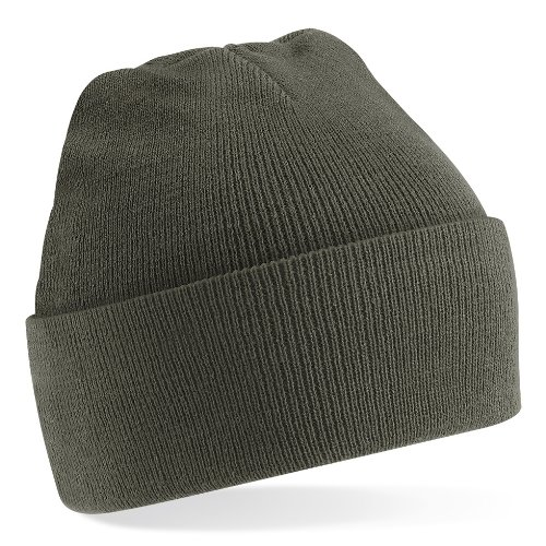 Beechfield Knitted Hat, Olive Green, One Size one size,Olive Green
